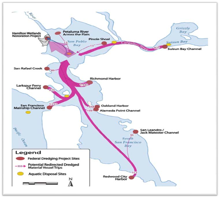 Bay maintenance dredging material could be redirected to the new ATF for North Bay restoration projects, according to a 2011 issue paper drafted by the State Coastal Conservancy.