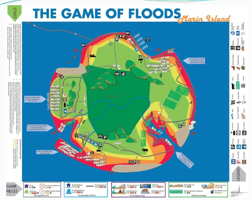 Game of Floods board. Source: Jack Liebster, Marin County