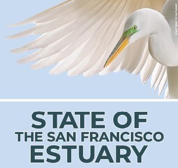 State of the Estuary Summit 2021 Logo with egret illustration